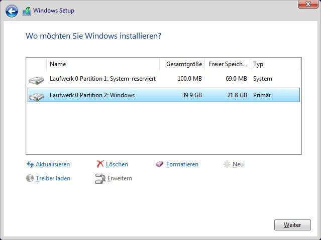 Beide Partitionen gehören zu einer Festplatte mit Windows 7 und können gelöscht werden