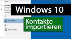 Windows 10: Kontakte importieren – so geht's