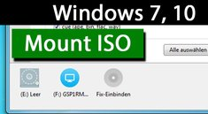 Windows 7, 10: Mount ISO – So funktioniert's