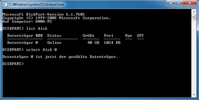 Mit Diskpart könnt ihr die Festplatte auch während des Windows-Setup in GPT konvertieren.