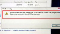 Lösung: Windows kann auf dem Datenträger nicht installiert werden (GPT, MBR)