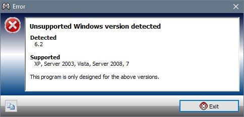 Diese Fehlermeldung erscheint, wenn ihr eine veraltete Xpadder-Version nutzt.