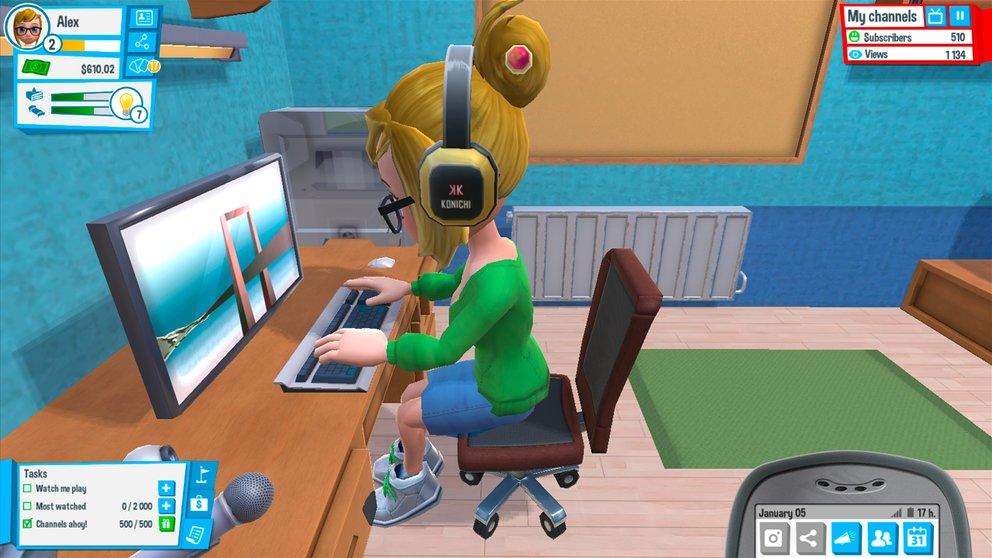 Eure Hauptaufgabe ist natürlich das Drehen von Webvideos vor dem PC.