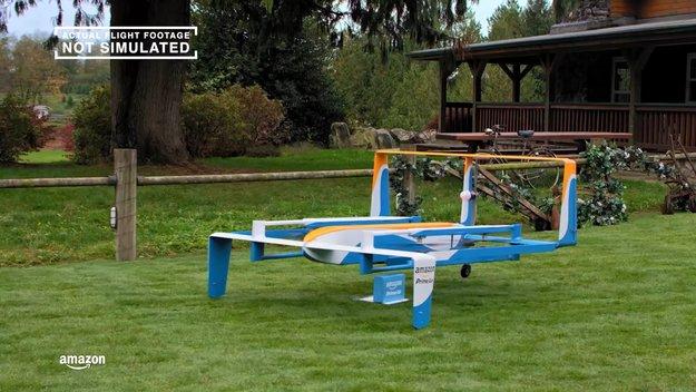Amazon stellt die ersten Pakete per Drohnen zu