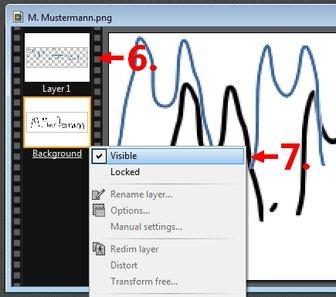 Digitale Unterschrift Bildbearbeitungsprogramm