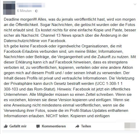 Facebook Deadline