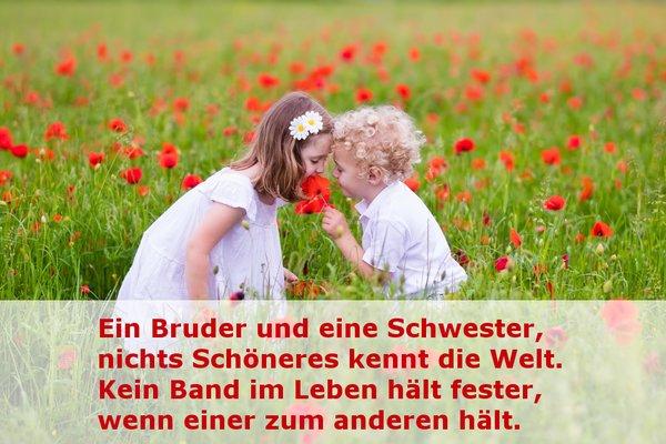Geschwister Spruche Zitate Fur Bruder Und Schwester