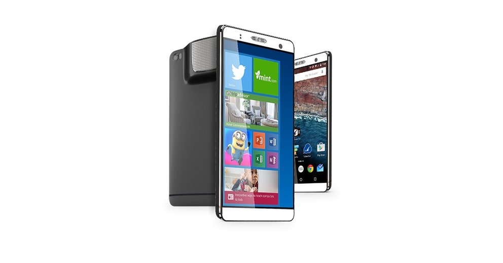 Holofone: 7-Zoll-Phablet mit Windows 10, Android & Beamer