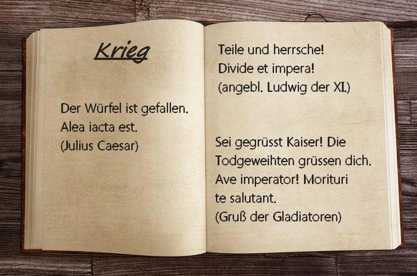 Lateinische Sprichwörter Sprüche Und Zitate Auf Schlau
