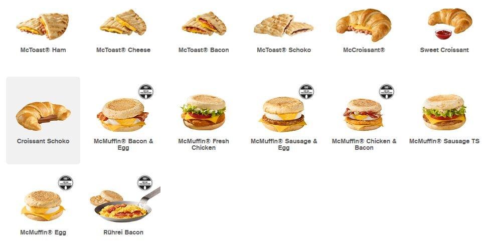 mcdonalds frühstück deutschland