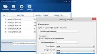 PDF Security Manager for Windows