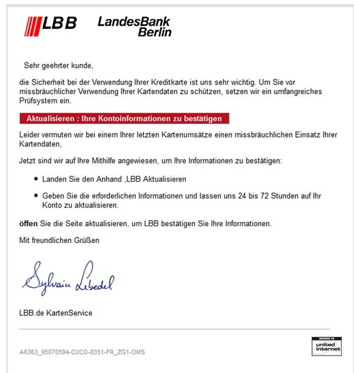 Phishing Landesbank Berlin