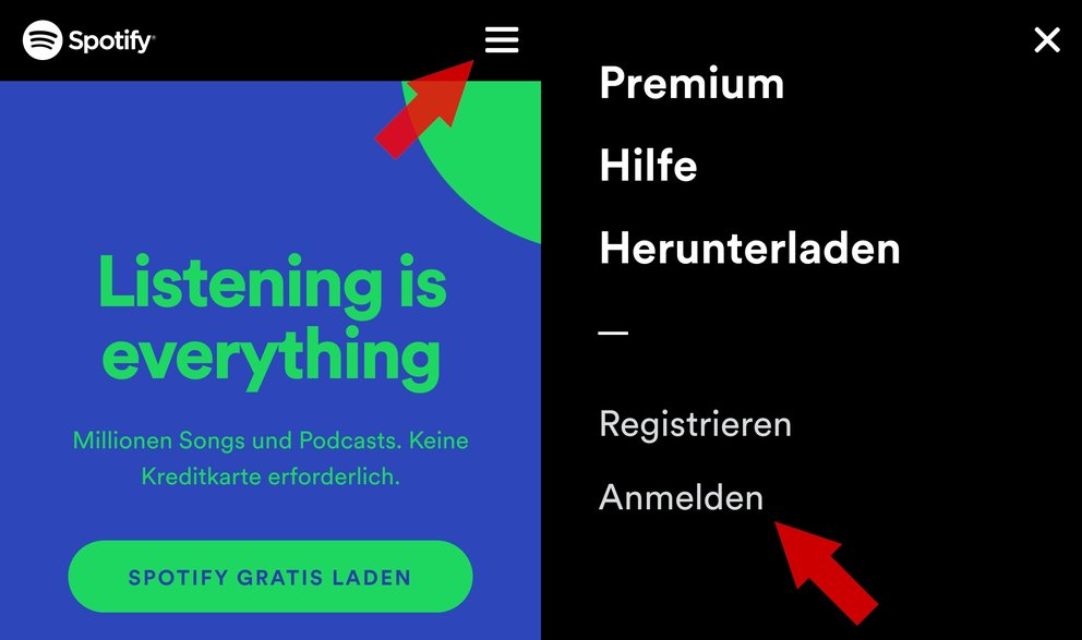 Spotify Passwort aendern anmelden