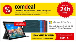 Surface Pro 4 mit Type Cover im Bundle für 899 Euro