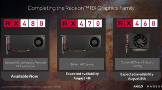 AMD Radeon RX 470 und 460 vorgestellt: Alle technischen Daten veröffentlicht (Update)