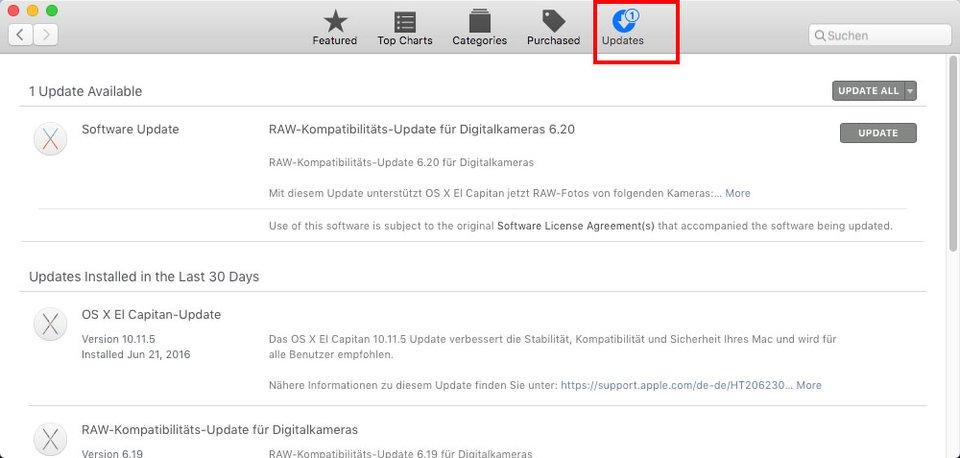 Im App Store könnt ihr Safari aktualisieren.