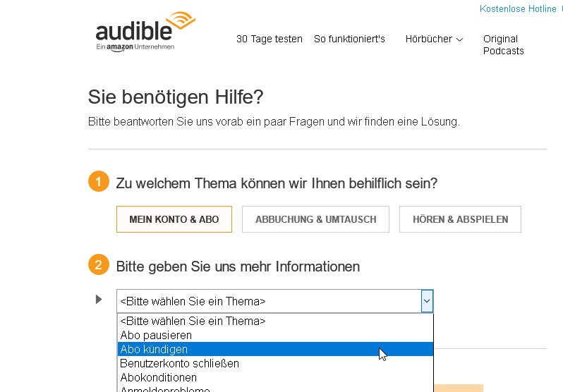 audible probemonat kГјndigen