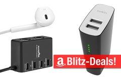 Blitzangebote:<b> günstiger Zusatzakku mit 10.400 mAh, USB-Ladegeräte für Reise und Zuhause, USB-Hub für iMac </b></b>