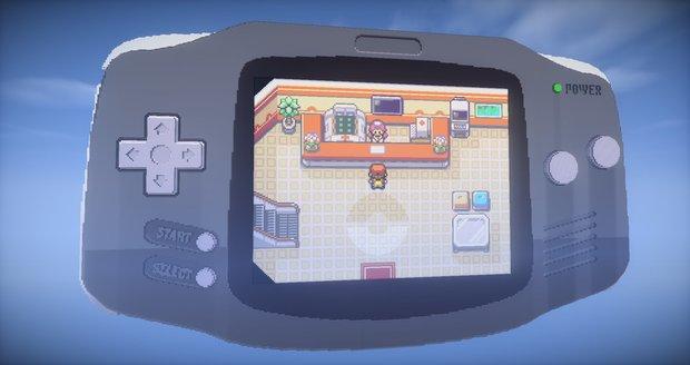 Minecraft: Spieler baut funktionierenden Game Boy Advance mit Pokémon Feuerrot