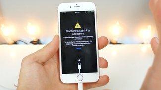 iOS 10 Beta 3 warnt bei Wasser im Lightning-Port
