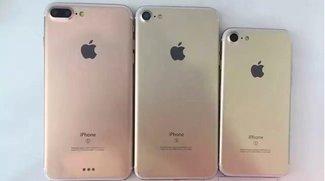 Bild zeigt iPhone 7 Pro neben iPhone 7 und Plus-Modell