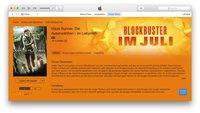 Blockbuster-Filme im iTunes Store stark vergünstigt