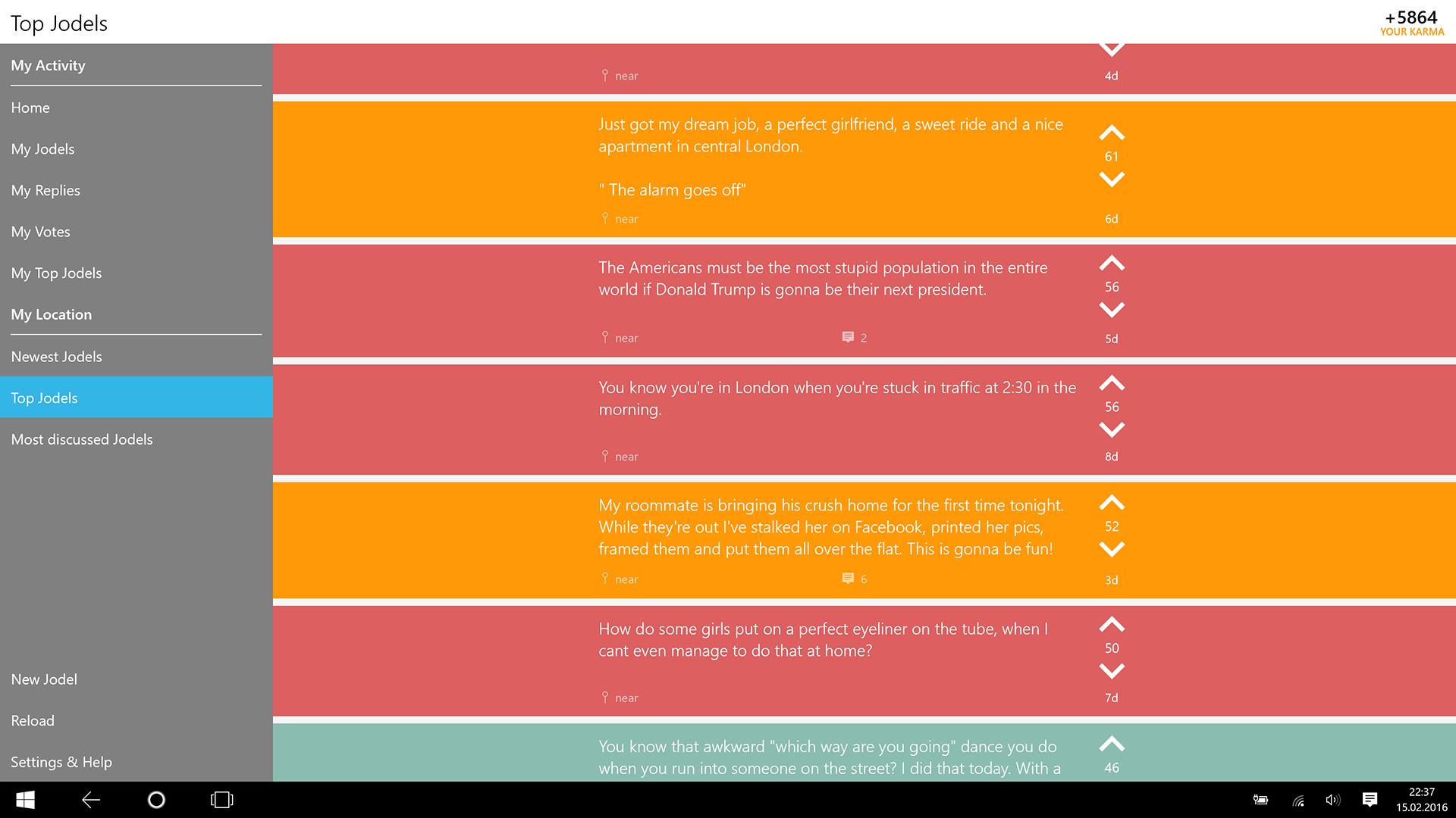 Jodel App für Windows Phone: Wodel machts möglich