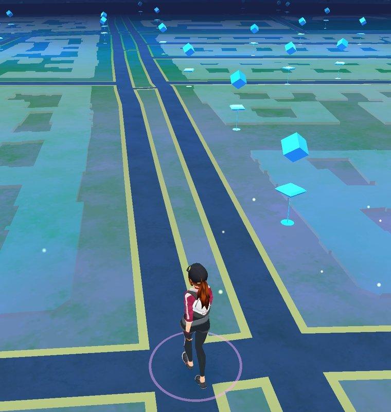 Auch am Abend (ab 19 Uhr) sind PokéStops auf eurer Karte verzeichnet.