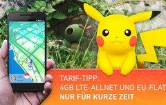 Pokémon GO im Urlaub spielen:<b> Blue All-in L mit 4 GB Internet- und EU-Flat für unschlagbare 12,99 Euro im Monat</b></b>
