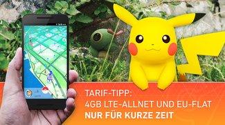 Pokémon GO im Urlaub spielen: Blue All-in L mit 4 GB Internet- und EU-Flat für unschlagbare 12,99 Euro im Monat