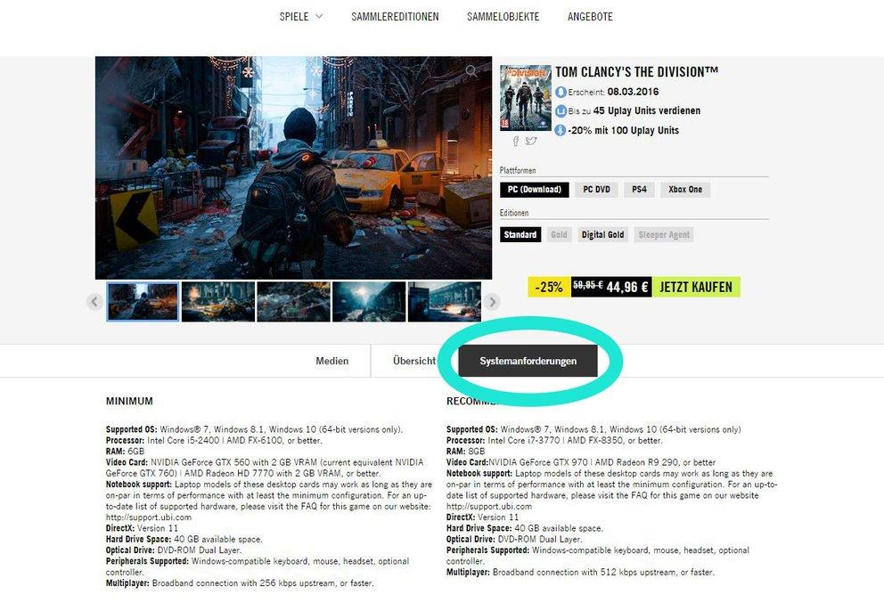 Im Shop von Ubisoft findet ihr im Reiter Systemanforderungen noch mehr Informationen, ob das jeweilige Spiel für Mac entwickelt wird.