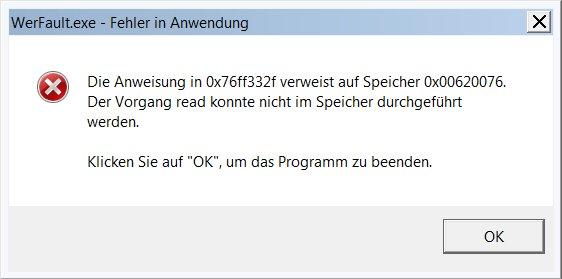 Lösung zum werfault.exe-Fehler (Windows-Dienst)