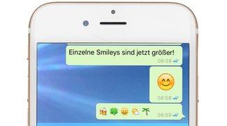 WhatsApp-Update: Ein erster, kleiner Schritt Richtung iMessage von iOS 10