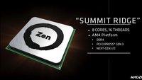 """AMD Zen: """"Summit Ridge""""-CPU mit 40 Prozent mehr Leistung macht Intel Konkurrenz"""