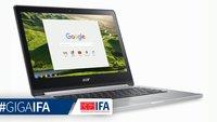 Acer Chromebook R13: Convertible mit Touchscreen und Chrome OS vorgestellt