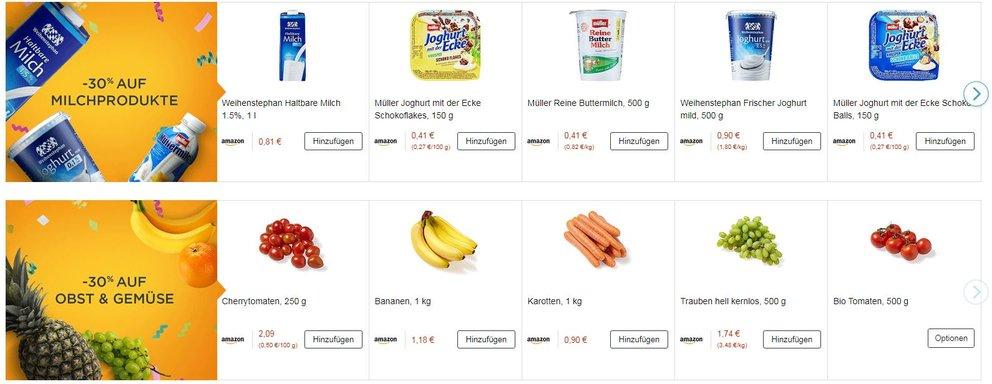 Amazon Prime Now Produkte