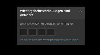 Amazon Video PIN einrichten, ändern und zurücksetzen - so geht's