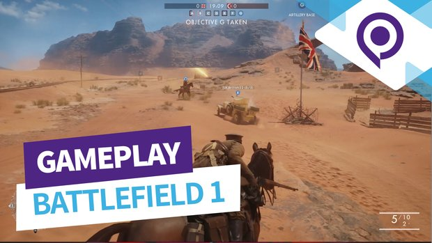 Battlefield 1: Neun Minuten Wüsten-Gameplay mit Rush und Conquest (gamescom 2016)