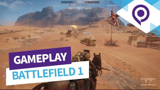 Battlefield 1: Neun Minuten Wüsten-Gameplay mit Rush und Conquest (gamescom 2016)