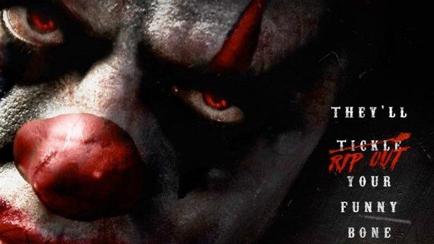 Im fiesen Trailer zu Clowntown zeigen teuflische Clowns ihr böses Gesicht!