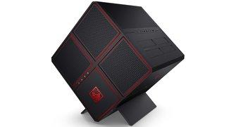 HP Omen X: High-End-Gaming-PC in Würfelform und mit Schräglage