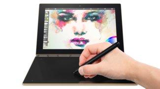Lenovo Yoga Book: Touch-Tastatur wird zur Schreib- und Zeichenfläche