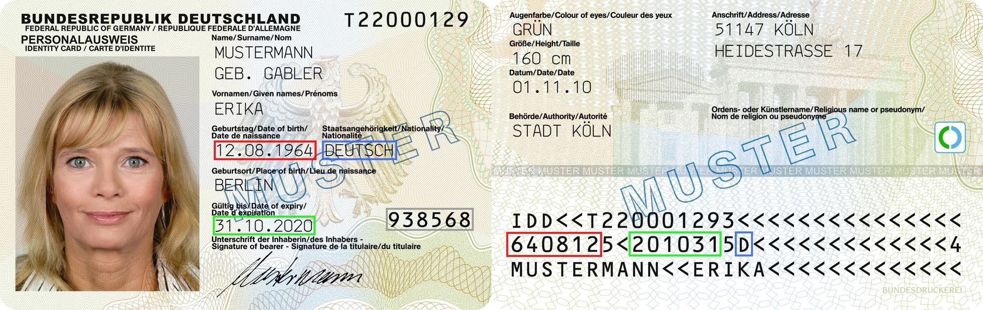 Dokumentennummer Personalausweis: Wo steht die Personalausweisnummer ...