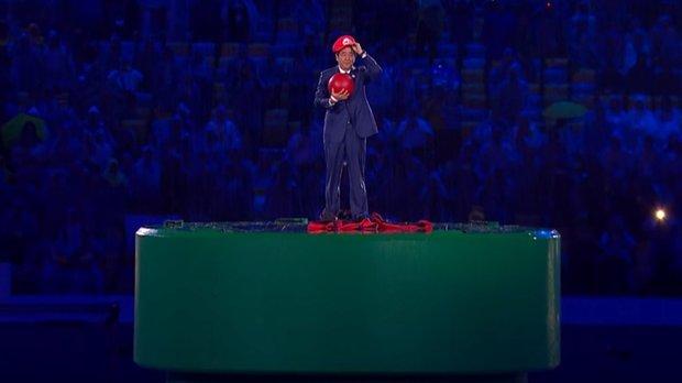 Mario bei den Olympischen Spielen: Japanischer Premier-Minister wird zum roten Klempner