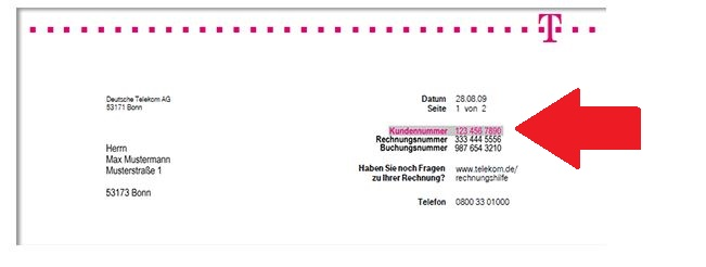 Vodafone Telefonrechnung