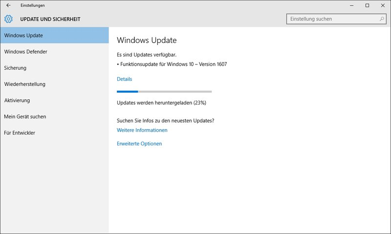 Windows 10 Anniversary Update Download