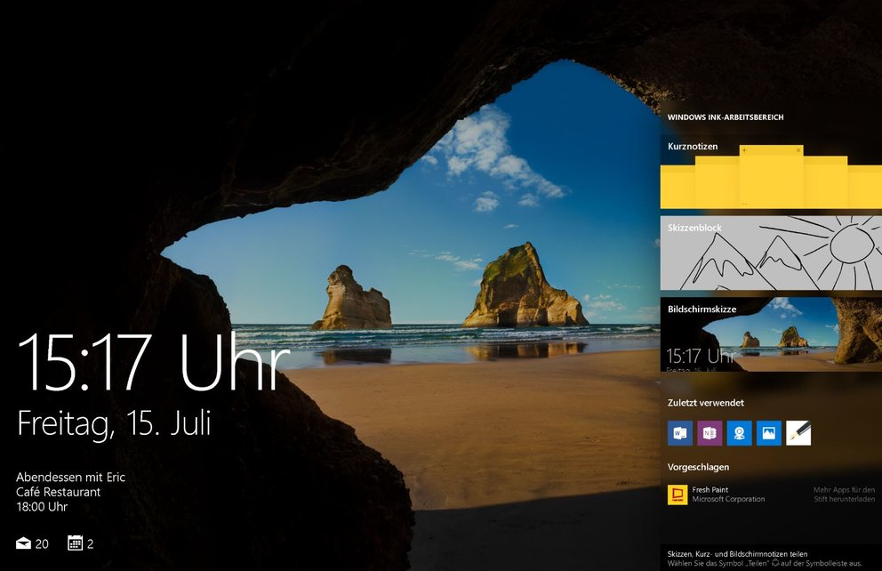 Windows 10 Annivesary Update Lockscreen