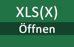 XLSX- und XLS-Datei öffnen...