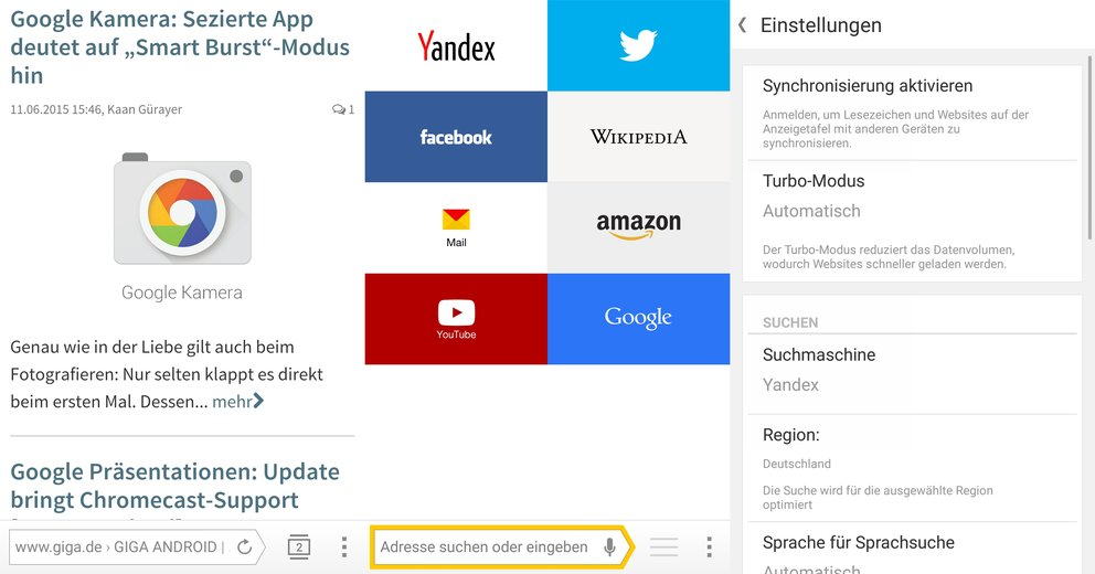 Yandex Android Browser