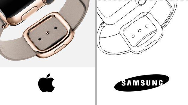 Faulheit oder Scherz? Samsung kopiert Apple Watch in Patentzeichnung